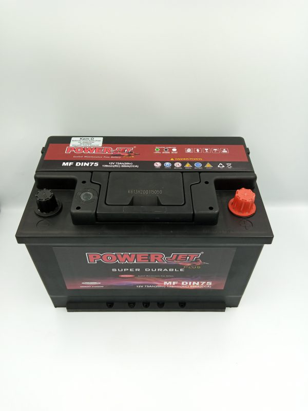 15 Plates 12V75Ah Powerjet Battery